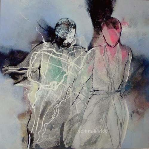 Gabriele Schmalfeldt, o.T. 13/19, People: Couples, Miscellaneous Emotions, Abstract Art, Abstract Expressionism