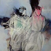 Gabriele-Schmalfeldt-People-Couples-Miscellaneous-Emotions-Modern-Age-Abstract-Art