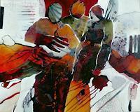 Gabriele-Schmalfeldt-Abstract-art-People-Group-Modern-Age-Abstract-Art