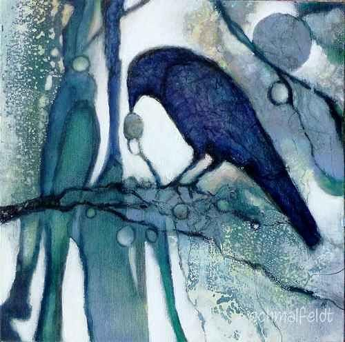 Gabriele Schmalfeldt, o.T. 11/20, Animals: Air, Nature: Wood, Contemporary Art, Expressionism
