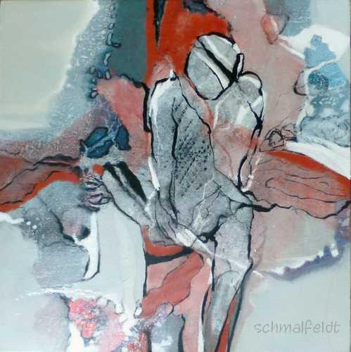 Gabriele Schmalfeldt, Sich finden, Miscellaneous People, Emotions, Abstract Art, Expressionism