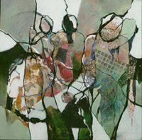 Gabriele-Schmalfeldt-People-Group-Situations-Modern-Age-Abstract-Art