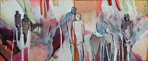 Gabriele Schmalfeldt, o.T. 34/20, People: Group, Abstract art, Abstract Art