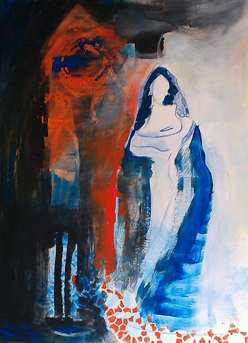 Andrea Huber, Serie Marias blauer Mantel 2, Belief, Mythology, Neo-Expressionism