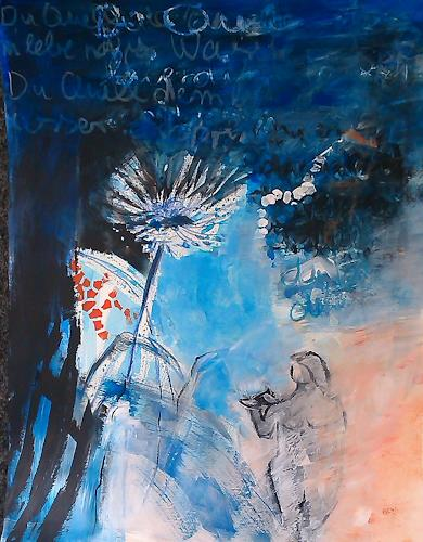Andrea Huber, Serie Marias blauer Mantel 6, Miscellaneous Plants, Nature: Miscellaneous, Neo-Expressionism, Expressionism