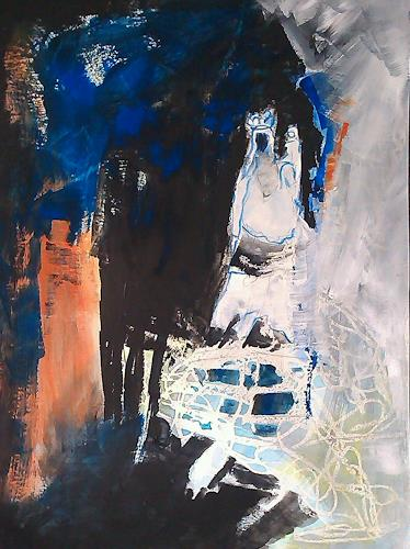 Andrea Huber, Serie Marias blauer Mantel 9, Mythology, Belief, Neo-Expressionism, Abstract Expressionism