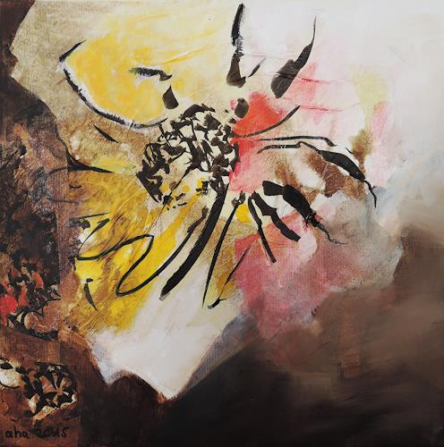 Andrea Huber, Sonnenblumen III, Abstract art, Nature: Miscellaneous, Neo-Expressionism, Abstract Expressionism