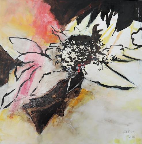 Andrea Huber, Sonnenblumen IV, Miscellaneous Plants, Abstract art, Neo-Expressionism