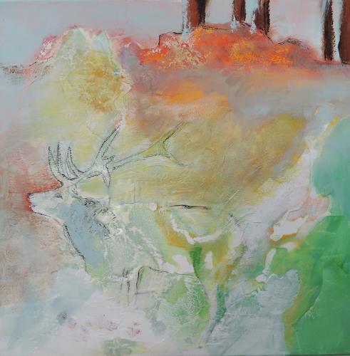 Andrea Huber, Hirsch III, Animals: Land, Abstract art
