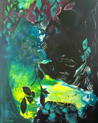 Andrea Huber, Zwischen Hell und Dunkel, Miscellaneous Landscapes, Plants: Trees, Neo-Expressionism