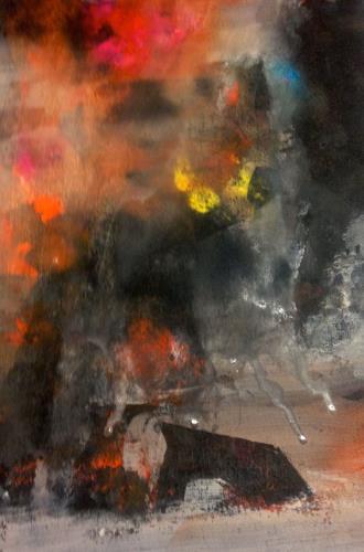 Anita Karolina Martinoli, Thunderstorm, Abstract art, Contemporary Art, Abstract Expressionism