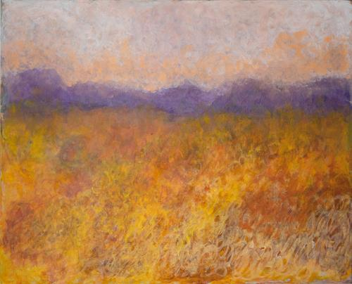 Pia Tauss, Herbststimmung, Landscapes, Contemporary Art, Expressionism