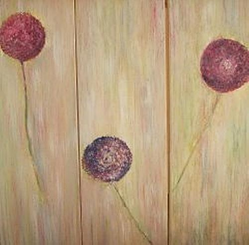 Renate Horn, Nur im Dreiergespann...!, Plants: Flowers, Decorative Art, Contemporary Art