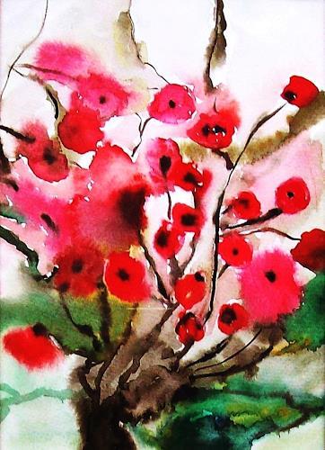 Renate Horn, Blumensprache..., Plants: Flowers, Still life, Contemporary Art