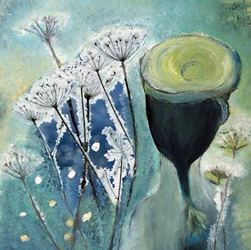 Renate Horn, Eisblumen - Ein zweiter Blick.., Decorative Art, Plants: Flowers, Contemporary Art