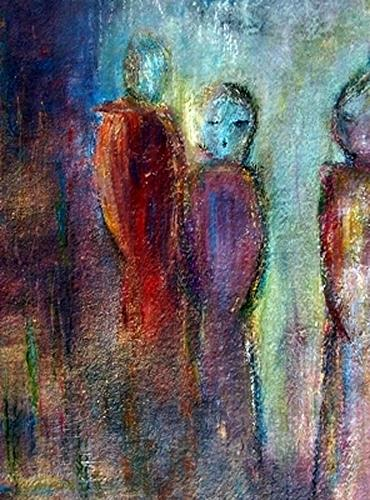 Renate Horn, Begegnung, People: Group, Miscellaneous Emotions, Abstract Art