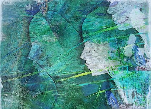 Renate Horn, Gespannte Mienen, Miscellaneous People, Decorative Art, Contemporary Art, Expressionism