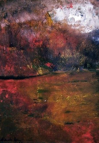 Renate Horn, Heissa, hussa, der Herbst ist da...!, Movement, Landscapes: Autumn, Contemporary Art, Expressionism