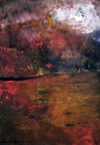 Renate Horn, Heissa, hussa, der Herbst ist da...!, Movement, Landscapes: Autumn, Contemporary Art, Expressionism