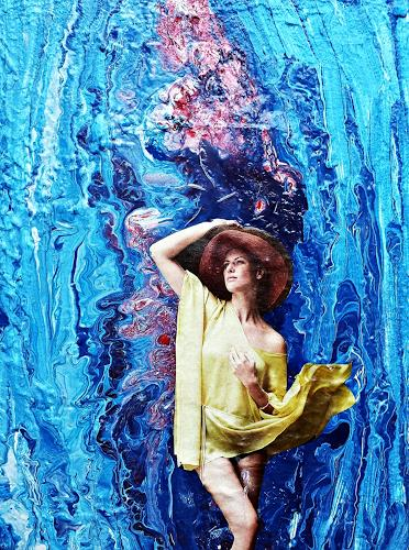 Renate Horn, Mit dem Leben spielen..., Decorative Art, People: Women, Contemporary Art