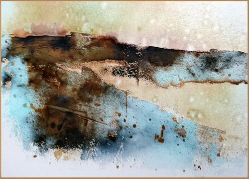 Renate Horn, An den Klippen, Landscapes: Sea/Ocean, Nature: Rock, Contemporary Art