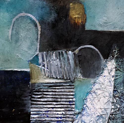 Renate Horn, Serie Materialmic I, : Rhapsody in `Blue, Decorative Art, Landscapes: Sea/Ocean, Contemporary Art