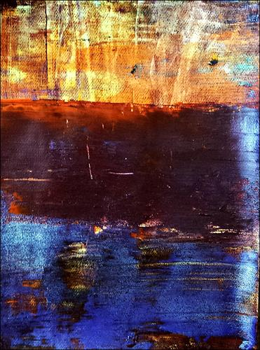 Renate Horn, Abendstimmung am Wasser, Landscapes: Sea/Ocean, Miscellaneous Romantic motifs, Contemporary Art, Abstract Expressionism