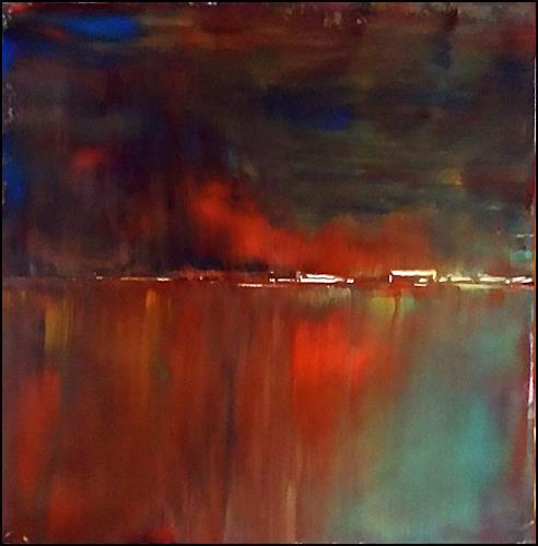Renate Horn, Feuriger Herbst, Landscapes: Autumn, Landscapes: Sea/Ocean, Expressionism