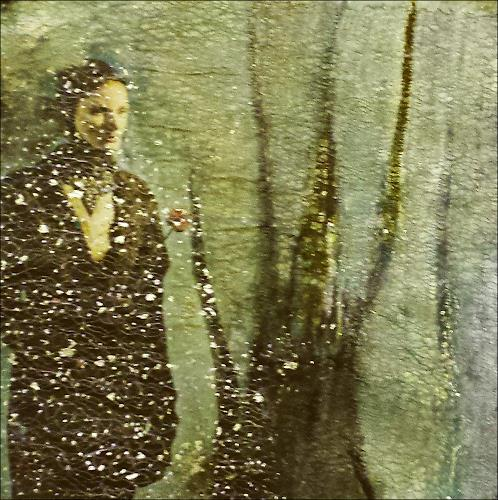 Renate Horn, Die böse Schneekönigin, People: Women, Plants: Trees, Contemporary Art, Expressionism