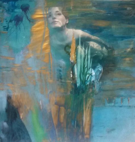Renate Horn, Unterwasserwelt, People, Nature, Contemporary Art, Expressionism