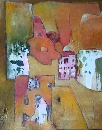 Renate Horn, Village de montagne, Landscapes: Mountains, Interiors: Villages, Contemporary Art