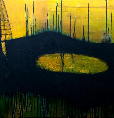 Renate Horn, Sundowner, II, Romantic motifs: Sunset, Landscapes: Sea/Ocean, Contemporary Art, Abstract Expressionism