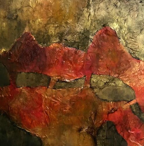 Renate Horn, Verbunden, Abstract art, Symbol, Contemporary Art, Abstract Expressionism