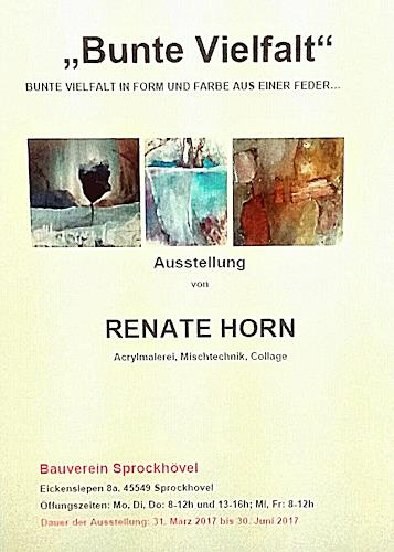 Renate Horn, Vernissage am 31.3.2017, Decorative Art, Abstract Art