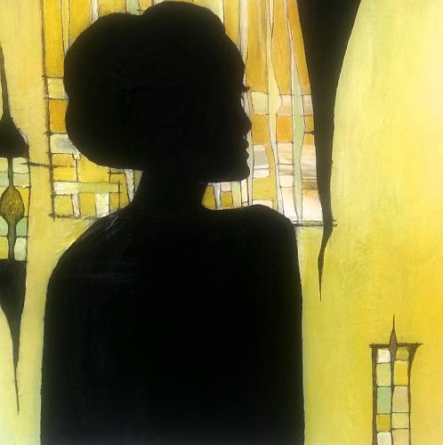 Renate Horn, Lady in black, People: Portraits, Fantasy, Contemporary Art