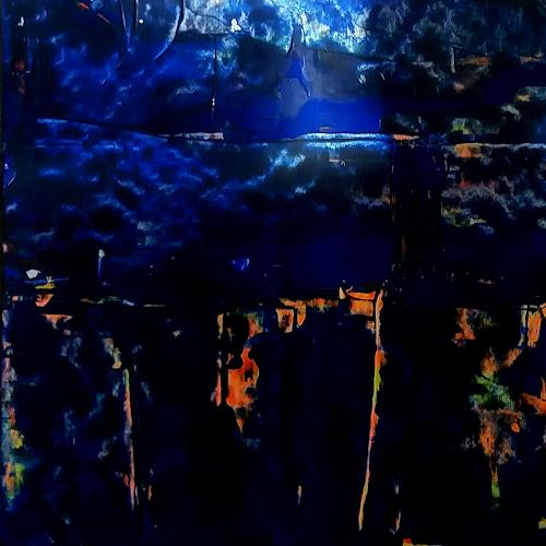 Renate Horn, Magisch, Miscellaneous Landscapes, Nature, Contemporary Art, Abstract Expressionism
