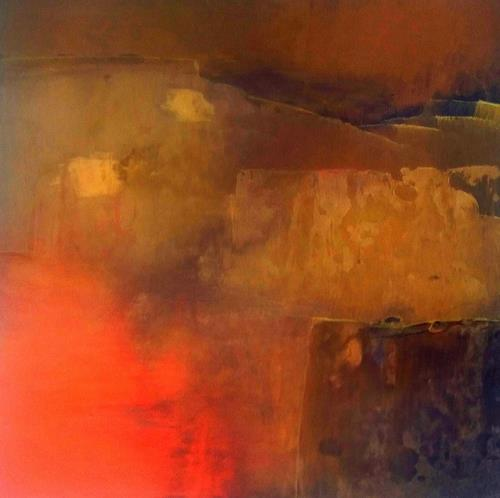 Renate Horn, Abendleuchten, Romantic motifs: Sunset, Contemporary Art