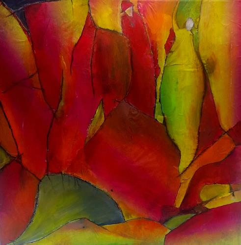 Renate Horn, Im Herbstwald, Landscapes: Autumn, Emotions: Joy, Contemporary Art, Abstract Expressionism