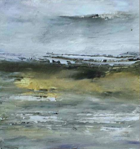 Renate Horn, Stormy, Landscapes: Sea/Ocean, Movement, Contemporary Art, Abstract Expressionism
