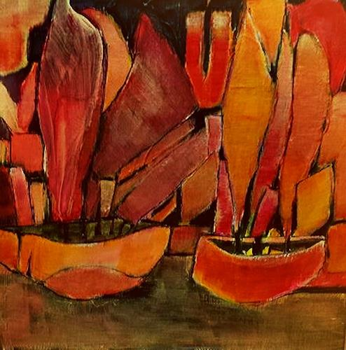 Renate Horn, XS III, Abends, Landscapes: Sea/Ocean, Romantic motifs: Sunset, Contemporary Art, Abstract Expressionism