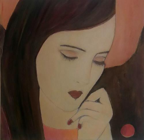Renate Horn, Versonnen, People: Women, Miscellaneous Emotions, Contemporary Art