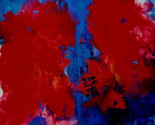 Reiner Dr. med. Jesse, Durch Blau geschieden, Abstract art, Non-Objectivism [Informel]