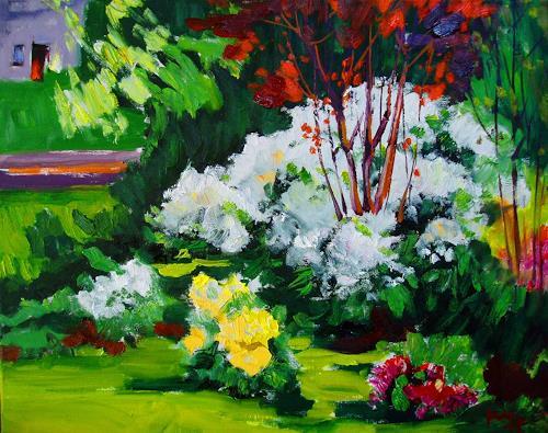 Reiner Dr. med. Jesse, Aus meinem Garten - Cunninghams White am Morgen, Plants: Flowers, Impressionism, Expressionism