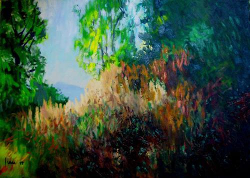 Reiner Dr. med. Jesse, Welkende Brennnsesseln, Landscapes: Autumn, Impressionism