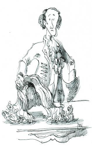Reiner Dr. med. Jesse, Voltaire ist wütend und wirft seine Perücke auf den Tisch, Fantasy, Realism