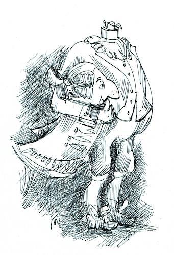 Reiner Dr. med. Jesse, Ludwig XVI., guillotiniert, Humor, Realism