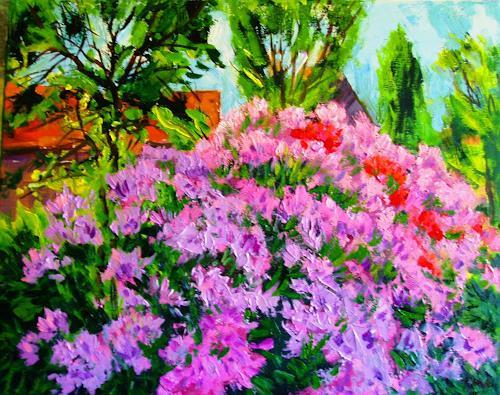 Reiner Dr. med. Jesse, Aus meinem Garten - Roseum elegans im Mittagslicht, Plants: Flowers, Plants: Flowers, Impressionism