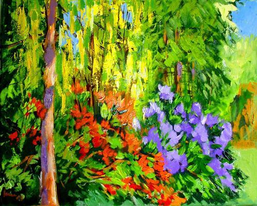 Reiner Dr. med. Jesse, Aus meinem Garten - Goldregen, Plants: Trees, Impressionism