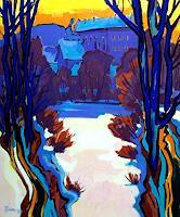 Reiner-Dr.-med.-Jesse-Landscapes-Winter-Modern-Age-Expressionism-Fauvismus