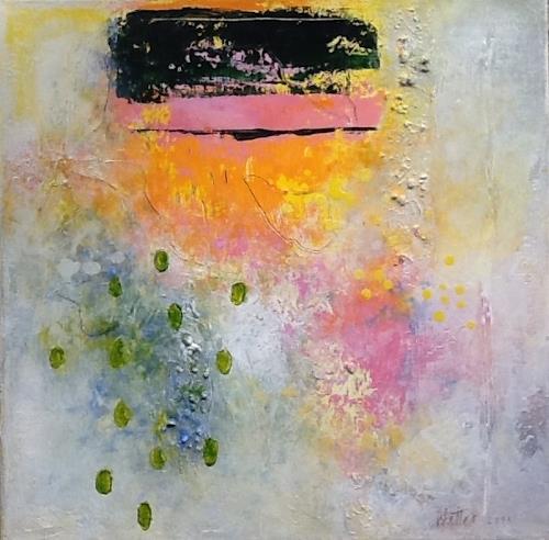 Christa Wetter, Frühlingserwachen 1, Abstract art, Contemporary Art, Expressionism